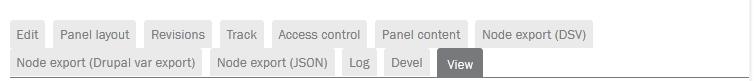 Drupal CMS Node export Modul separate tabs